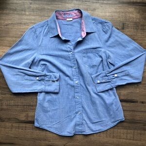 Boden Chambray Button Down Shirt 4